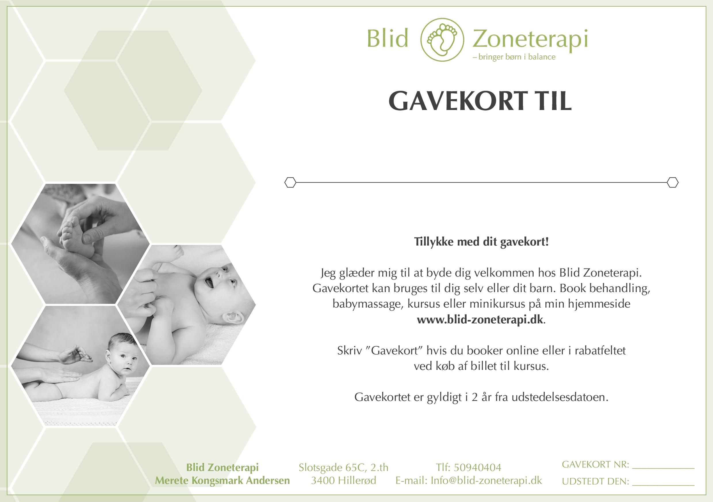 Gavekort Blid Zoneterapi